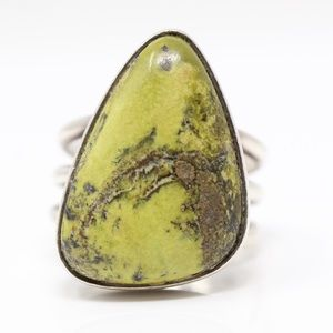 JAY KING DTR 925 CHUNKY Green Jasper Ring 11.5